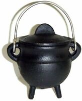 3.5  Cast Iron Cauldron Incense Burner Charcoal Pot Belly Free Priority Ship