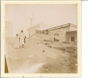 Algerie-Laghouat-La-Mosquee-Vintage-print-Tirage-citrate-7x8-Circa-19