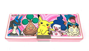 """Pokemon Center Pencil Case - 2005 - PINK """"Lucario and the Mystery of Mew"""""""