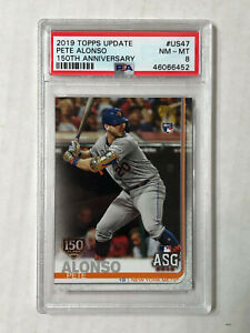 PETE-ALONSO-2019-Topps-Update-150-YEARS-GOLD-FOIL-STAMP-RC-PSA-NM-MT-8-US47
