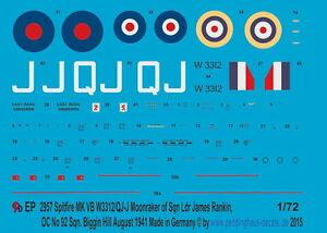 Peddinghaus-2957-1-72-Spitfire-MK-VB-W-3312-QJ-J-Moonraker-of-Sqn-Ldr-James-Ran