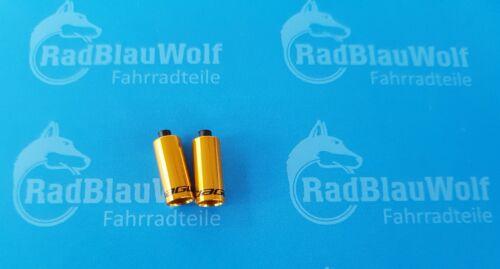 2 x Jagwire  End Cap Endkappe gedichtet 5mm  Gold