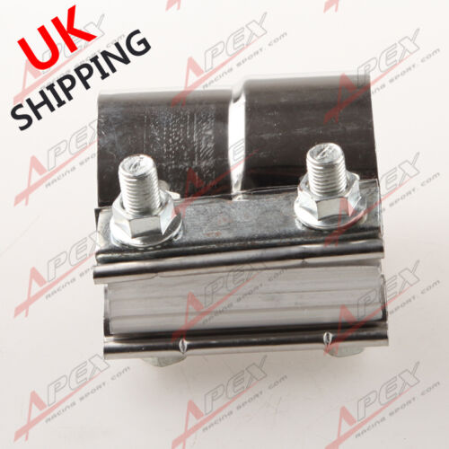 "2.75/"" Stainless Steel Torctite Exhaust Band Clamp Step Clamps Lap Join UK"