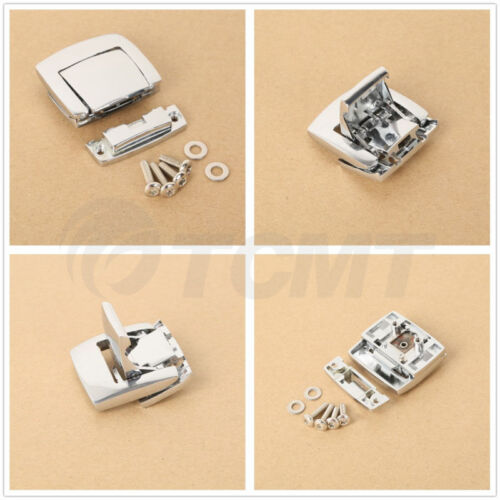 Tour Pack Pak Latches Chrome For Harley Touring Electar Road Glide 1980-2013 12