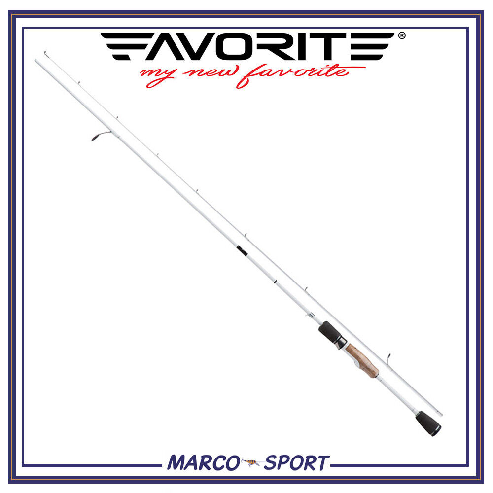 Canna da pesca a spinning Favorite bianca Bird rod ultra light in carbonio mare