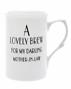 Bone-China-039-A-lovely-brew-for-my-darling-mother-in-law-039-Beaker-Mug