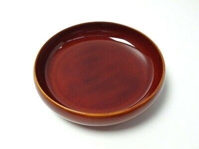 Japanese antique vintage Shunkei lacquer wood round Sencha Bon tea tray chacha