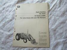 John Deere 37 Farm Loader Parts Catalog Book Manual