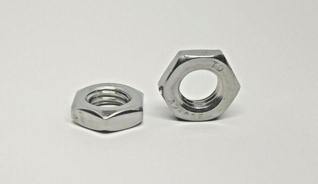 Sechskantmutter DIN 439 B niedrige Form Edelstahl A2 Muttern M3-M12
