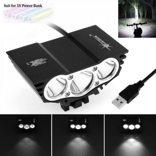 7500LM SolarStorm 3x CREE XM-L T6 LED 4 Modes USB Bicycle Bike Light Headlamp RT