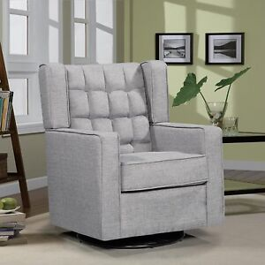 Sensational Details About Oliver Smith Grey Contemporary Microfiber Modern Sofa Chair Swivel Glider New Beatyapartments Chair Design Images Beatyapartmentscom