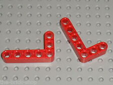 LEGO Technic 2 Red Beam 3 x 5 Bent 90 ref 32526 / Set 8070 8674 8258 8289 8288