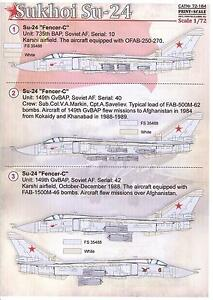 Details about Print Scale Decals 1/72 SUKHOI Su-24 FENCER Russian Jet  Fighter