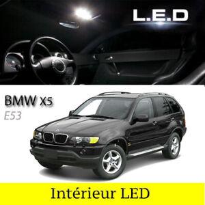 Kit-ampoules-a-LED-blanc-pour-l-039-eclairage-interieur-habitacle-BMW-X5-E53