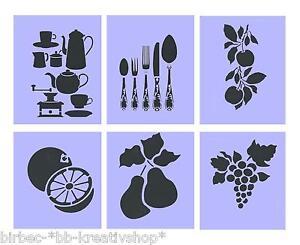 1 schablone efco stencils f r wand und textil kaffee tee. Black Bedroom Furniture Sets. Home Design Ideas