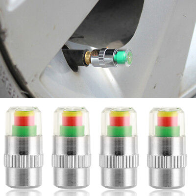 4PCS Car Auto Tire Monitor Valve Stem Caps Pressure Indicator Sensor Eye Alert