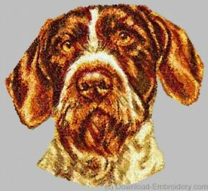 Embroidered-Sweatshirt-German-Wirehaired-Pointer-DLE1543-Sizes-S-XXL
