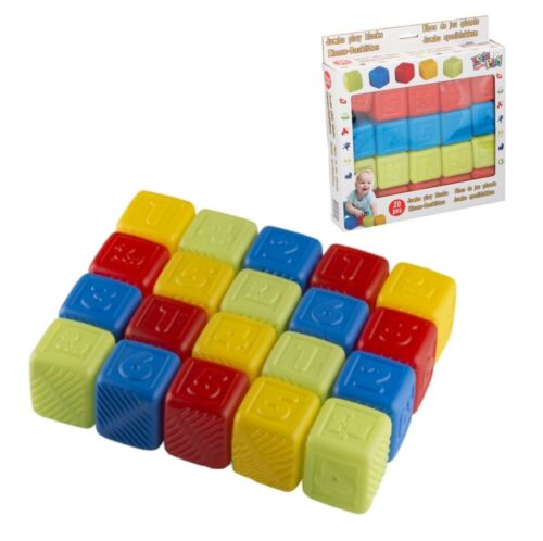 Baby Blocks Playing Jumbo Blocks 20 Piece Building Stacking Blocks For Toddlers
