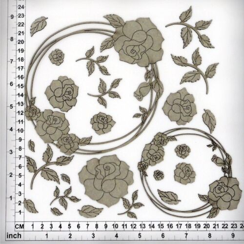 String Circles Roses 64070 Chipboard Embellishments for Scrapbooking