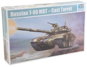 Russian-T-90-A-Mbt-Cast-Turret-Tank-1-35-Plastic-Model-Kit-TRUMPETER