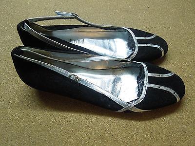 Original Holly Wood 39 Schwarz Damenschuhe Made in Spain 1 1/2 Echtes Leder