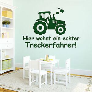 10938 Wandtattoo Loft Aufkleber Trecker Schriftzug Jungs Traktor ...