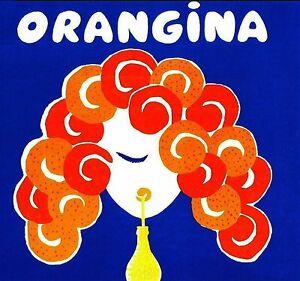orangina villemot vintage art A0 SIZE PRINT canvas painting poster