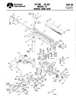 Delta Rockwell No. 33-200 & No. 33-201 Model 12 Radial Arm Saw Instructions