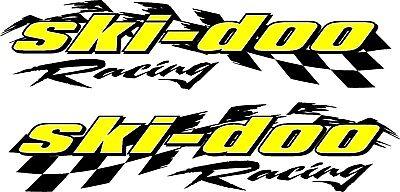 "Ski-doo racing checker snowmobile 2 sticker decal set 5/"" x 22/"""