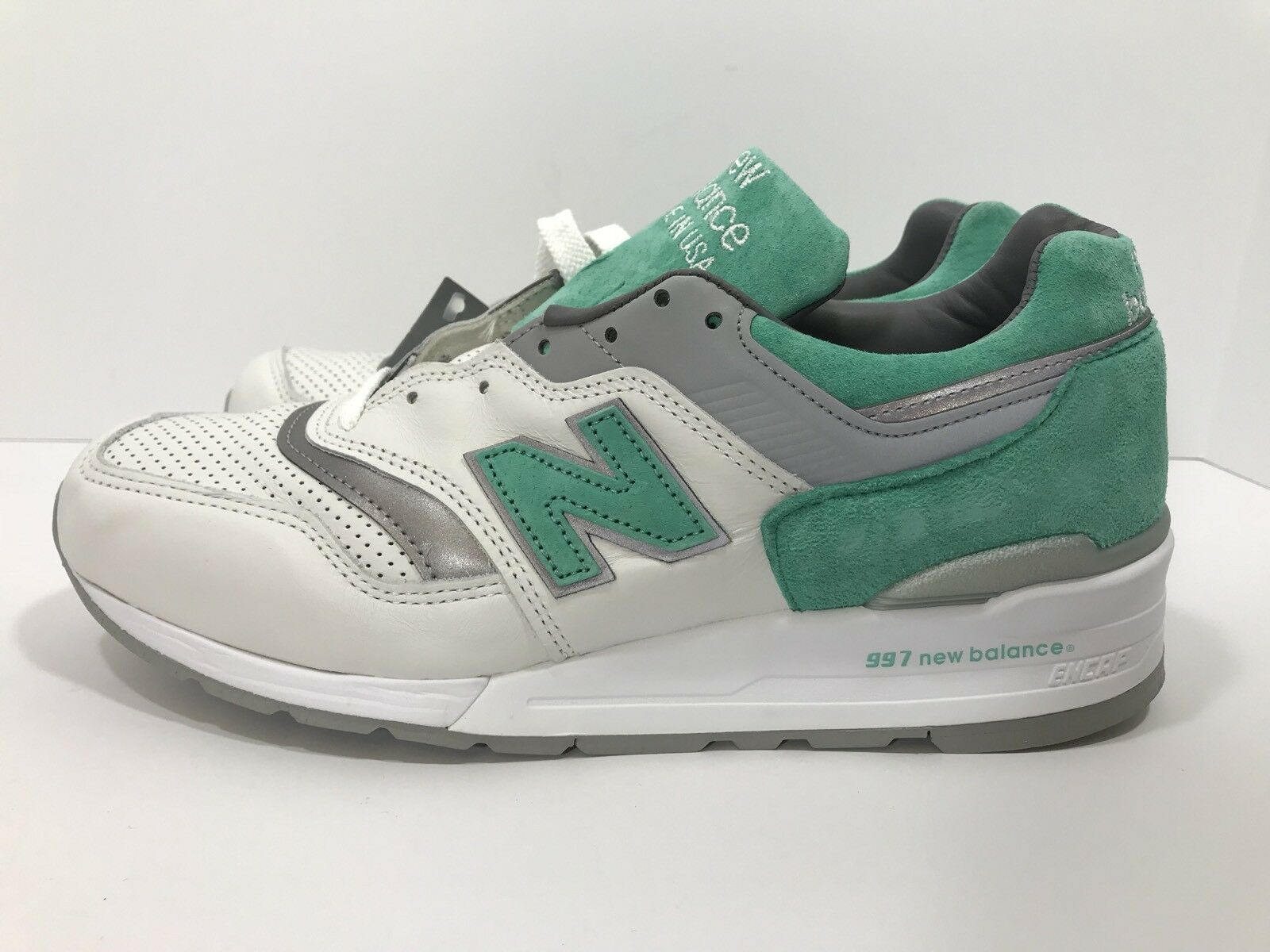 New Balance 997 Made In USA Men's Size 9 White Mint Grn Kith Ronnie Fieg M997CMA