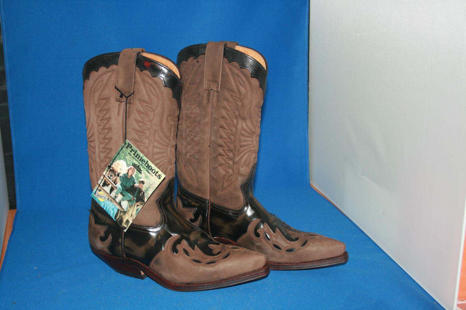 outlet Prime Stivali Cowboy Stivali Stivali Western Western Western NUOVO PELLE HANDMADE GR. 36  Sconto del 60%