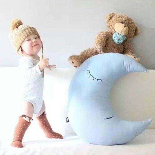 Moon Shaped Pillow Cushion Baby Kids Cartoon Soft Plush Toy Home Decor Gifts