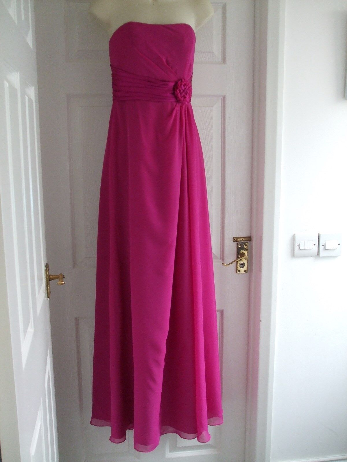Z Womens Size 8 Pink Dress LADIES FULL LENGTH PROM SMART EVENING PROM SUMMER