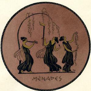 1930s-French-Pochoir-Greek-MENADES-Maenads-Dionysus-Followers-Women-Dancing-S