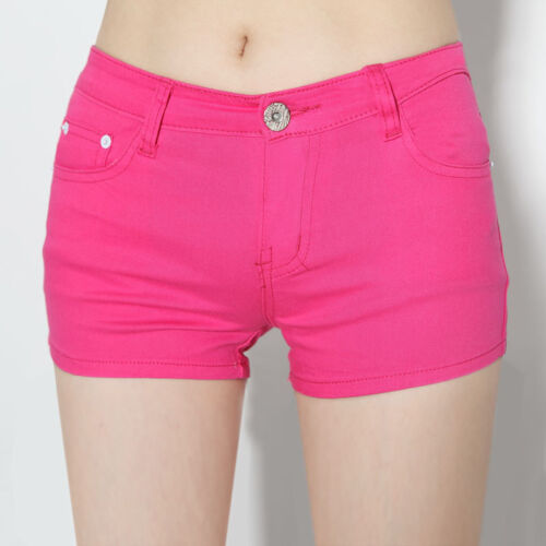 Hot fashion new women/'s casual candy colour 5 size shorts short jeans pants