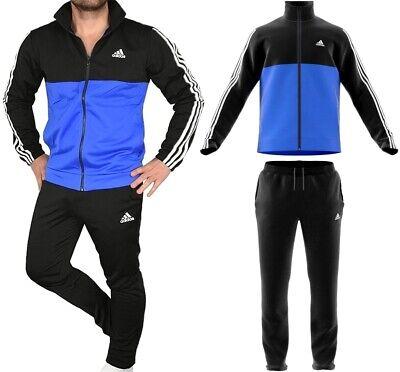 Adidas Mens Tracksuit Jogging Suit Tracksuit Polyester Men BlackBlue   eBay