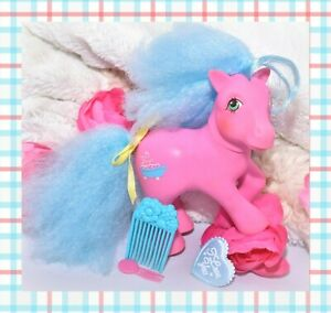 My-Little-Pony-MLP-G1-Vtg-SWEET-SUDS-Pink-Perfume-Puff-Pony-PICK-Comb-Ribbon