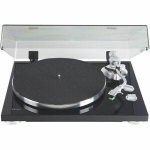 Teac-TN-350-MB-2-Speed-Belt-Drive-Turntable-with-S-shaped-Tone-Arm-Black