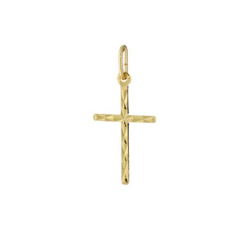 Pequeñas cadenas cruz remolque 333 dorado 10x17mm diamantado señora niños 7802