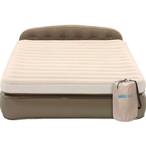 queen size air mattress coleman. Coleman AeroBed Queen Double Height Mini Headboard Mattress Camping Air Bed Pump Size