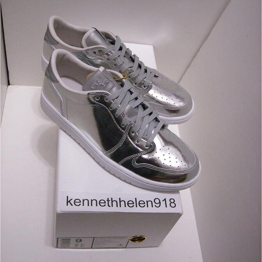 Nouveau 2016 Nike Jordan 1 Bas OG sommet metalliques Argent 852549-003 Hommes Sz