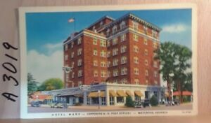 Linen-postcard-Hotel-Ware-Waycross-Georgia