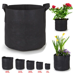 Details About 1 75 Gallons Growing Bags Aeration Fabric Tomato Plant Pots Vegetable Flower Bag
