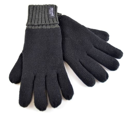 MENS THINSULATE GLOVE WITH CONTRAST CUFF