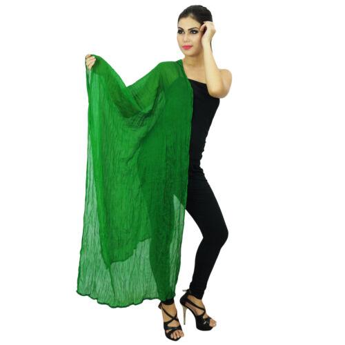 Grünen Chiffon indische Schals Frauen tragen Stola Hals wickeln Chunni