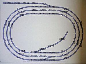 Peco-Job-Lot-of-00-Gauge-Nickel-Silver-Track-triple-Oval-with-sidings