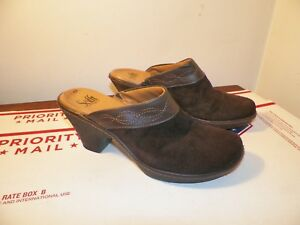 898feb9769 Sofft Mule Slide Clog Casual Shoe Brown Suede Leather Womens 7.5 M ...