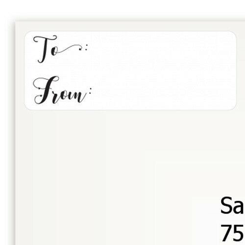 To and From Letter Christmas Personalized Return Address Rectangle 27 Stickers