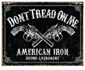 DON-039-T-TREAD-ON-ME-TIN-SIGN-NEVER-SURRENDER-METAL-POSTER-WALL-ART-DECOR