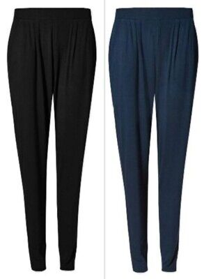 cfa69eb039 Fa M ou S High Street Women's M S Jersey Tapered Leg Pull On Trousers RRP  £19.50   eBay